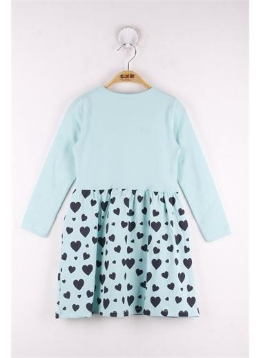 Toontoy Kids Toontoy Kız Çocuk Love Baskılı Elbise Renkli